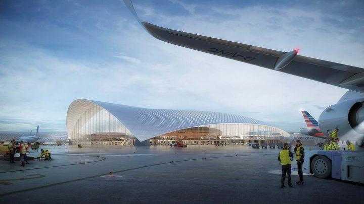 シカゴ・オヘア国際空港の新ターミナル Foster + Partnersらの設計案が公開