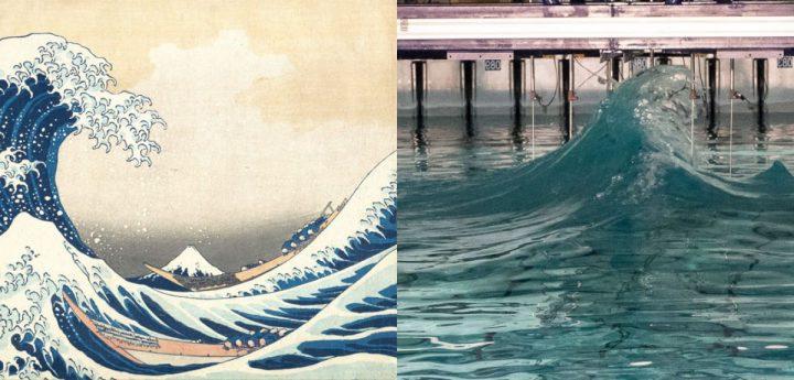 研究者が大波「ドラウプナー波」の再現に成功 その姿は葛飾北斎が描いた浮世絵に酷似!?