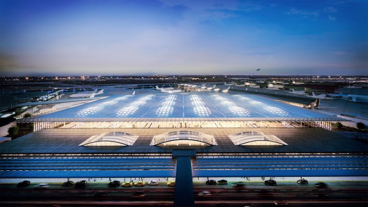 シカゴの文化遺産と未来へのビジョンを反映した SOMのシカゴ・オヘア国際空港新ターミナル設計案