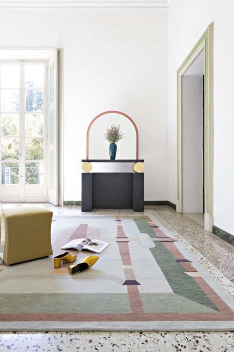 ルネサンス絵画の遠近法をあしらった絨毯 イタリアのメーカー cc-tapisが新作を発表
