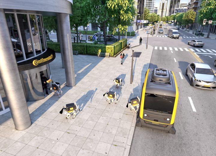 自動車部品メーカーのコンチネンタル 自走シャトルと配送ロボットによるモビリティプラットフォーム構想を…