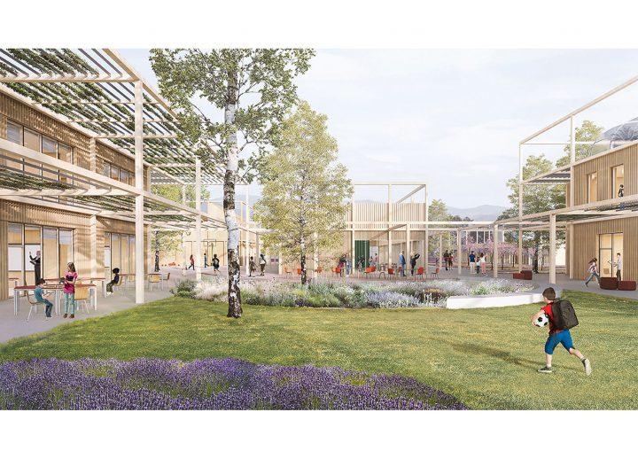イタリアの村に建設される複合学校 「New School Complex in Sassa」