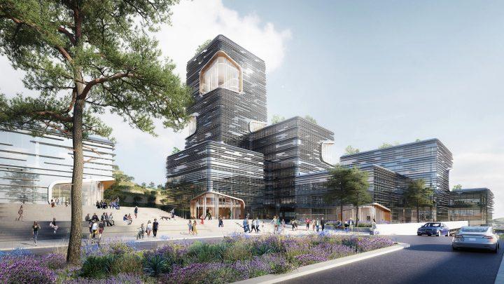 建築事務所 UNStudioがジョージアで手がける 新しい銀行本店「TBC Forum」が着工