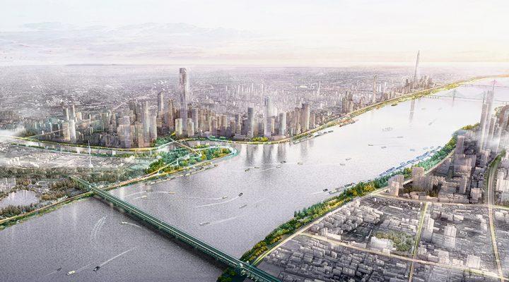 長江の特性を活かした中国・武漢の建築計画 「Wuhan Yangtze Riverfront Park」