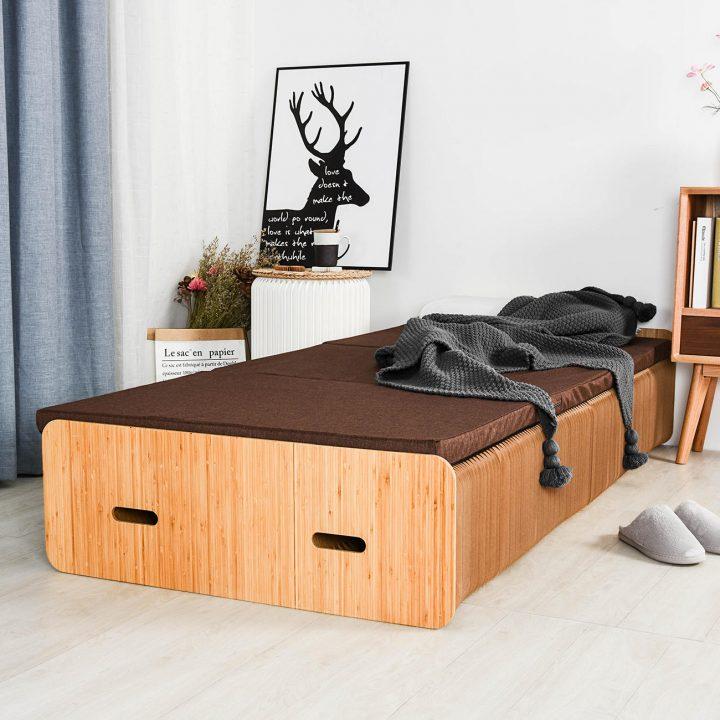アコーディオンのように伸縮可能なベッドが登場 段ボール製でリサイクルも可能な「Paper Bed」