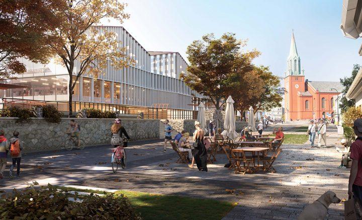 ノルウェー・スタヴァンゲルの新しい文化施設 「Three Houses and a Long Table」