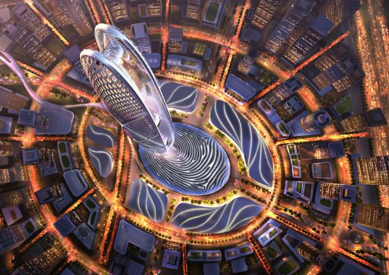 ドバイのアイコンとなる高さ550mのタワー 「Burj Jumeira」の設計案が公開