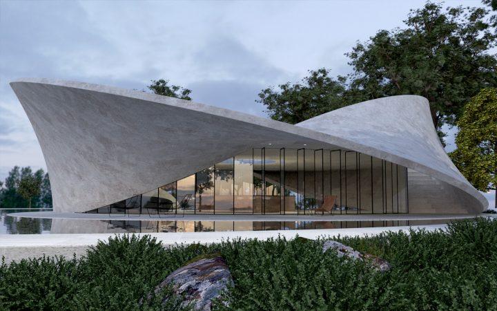 表と裏が区別できない「メビウスの輪」をモチーフにした Antony Gibbon Designsの建築「MOBIUS」