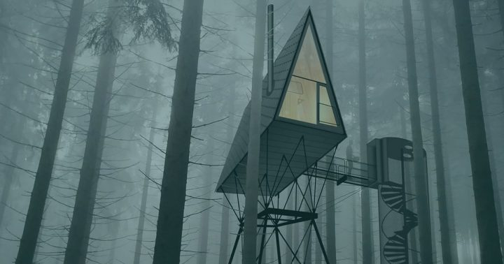 ノルウェーの自然保護区Finnskogenの大自然を堪能できる ユニークな宿「Pan treetop cabins」