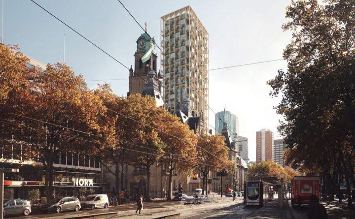 建築事務所 ODA New Yorkが手がける ロッテルダムの歴史を再興する150mのタワー