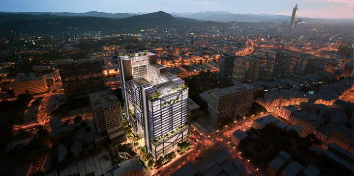 Foster + Partnersによる台北・Goldsunグループ新本社ビル 中庭やスカイガーデンなどソーシャルスペースも…
