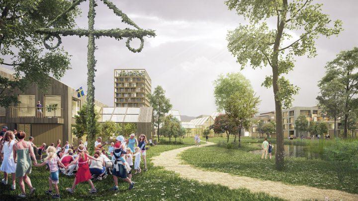 建築事務所 Henning Larsenによる「Humlestaden」 イェーテボリ南部の田園都市構想