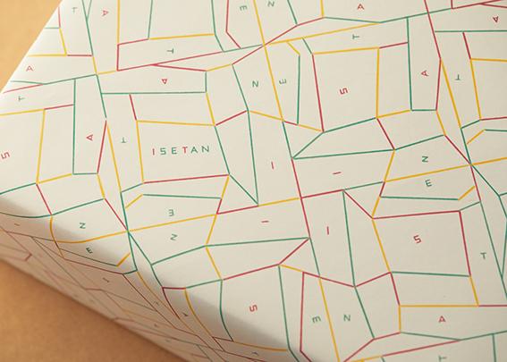伊勢丹が包装紙のデザインをリニューアル フィリップ・ワイズベッカーによる「radiance」