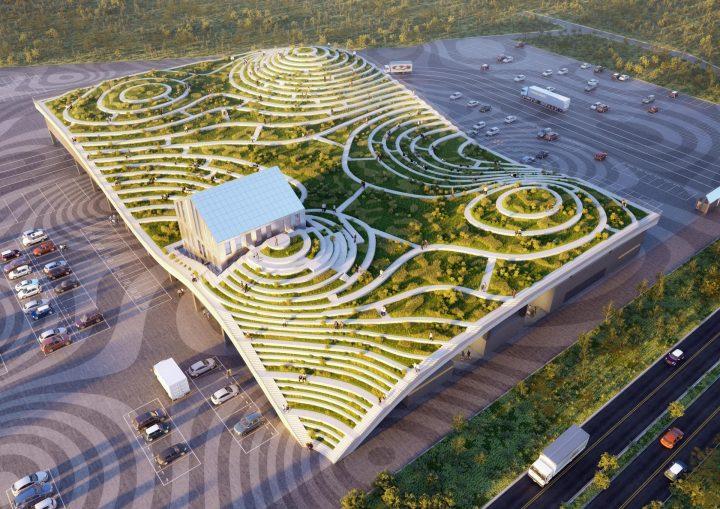 MVRDVによる台南のユニークな新青果市場 屋上が緑あふれるテラスに