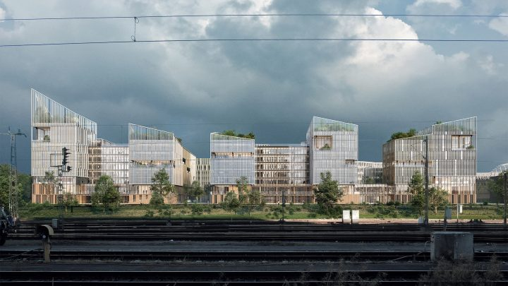 Henning Larsenによる仏サン=ドニの新地区「NØRR」 移民が多い地域に長く続くコミュニティの構築を目指す