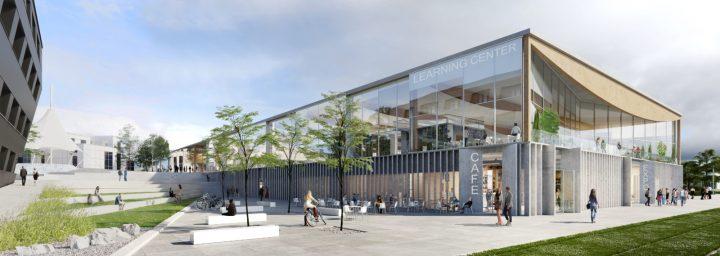 フロアを重ねて集中できる学習環境を実現 リュミエール・リヨン第2大学の多目的ラーニングセンター