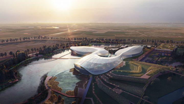 建設設計事務所 Ennead Architectsが手がける 中国のカラチョウザメ自然保護区