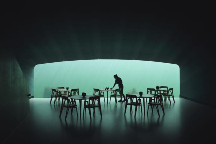 ノルウェーにの水中レストラン「Under」 海洋生物の研究センターとしても機能