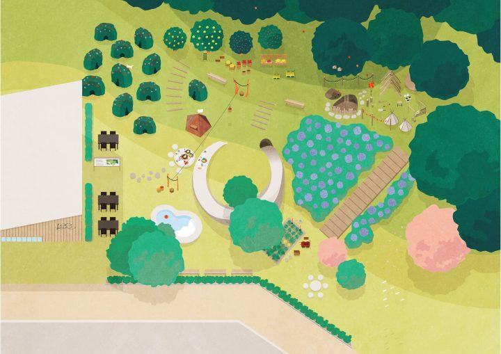 100本のスプーンが仕掛ける地域の公園 設計したのは25名のコドモ建築家たち