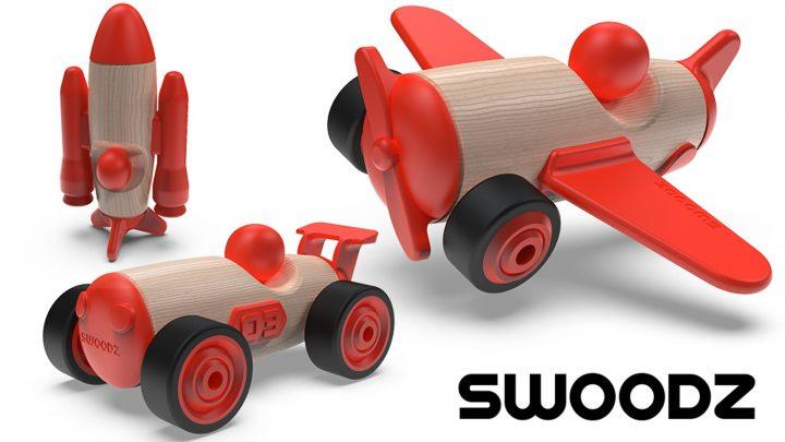 組み立て式のおもちゃ「SWOODZ」が登場 子どもの創造力を育むデザイン