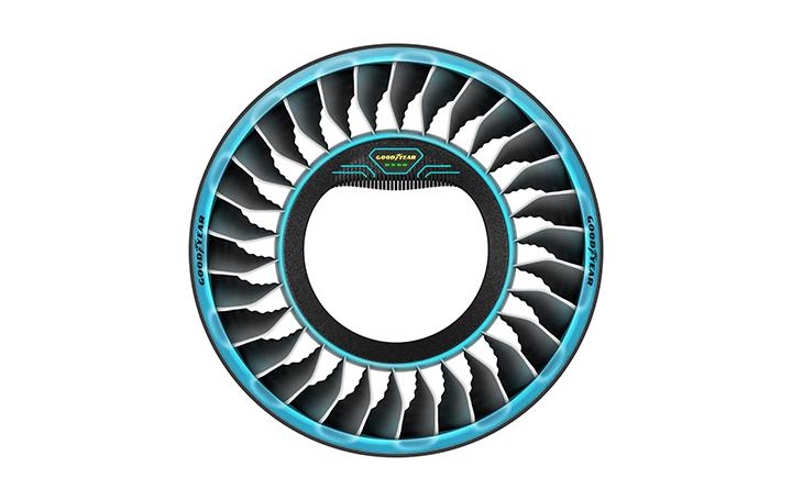 Goodyearから斬新なコンセプトタイヤ「AERO」が発表 空を飛ぶための「プロペラ」を搭載!?