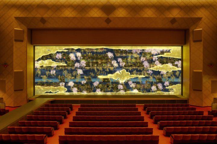 明治座がチームラボとコラボした緞帳が誕生 時とともに変わる「四季喜昇座 – 時を紡ぐ緞帳」