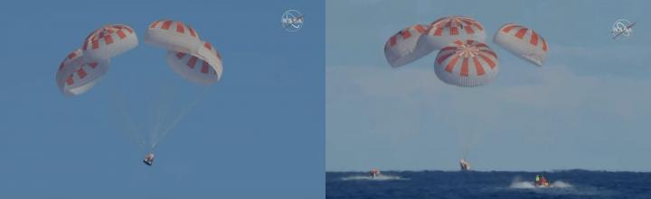 SpaceXの宇宙船「Crew Dragon」が大西洋に無事着水 ISSへのドッキングミッション「Demo-1」を達成