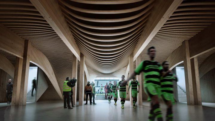 ビーガンを提供する環境に優しいフットボールクラブ!? 新スタジアム計画はZaha Hadid Architectsが担当