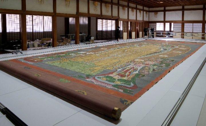 長谷寺と凸版印刷が日本最大級の掛け軸 「長谷寺大観音大画軸」をデジタルアーカイブ