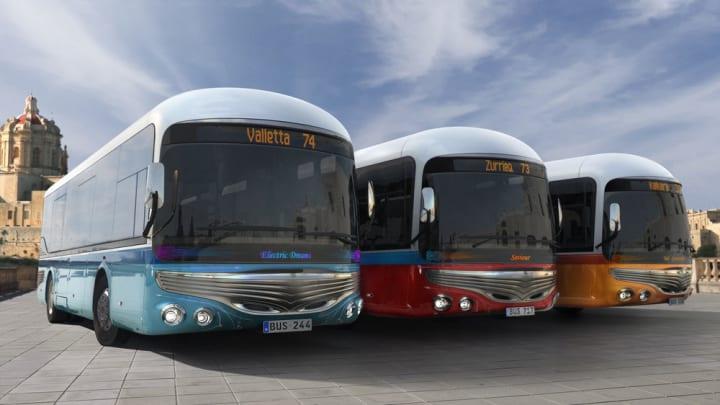 マルタ島のバスの魅力を伝えていくためのコンセプト Mizzi Studioによる電気バス「Malta Bus Reborn」