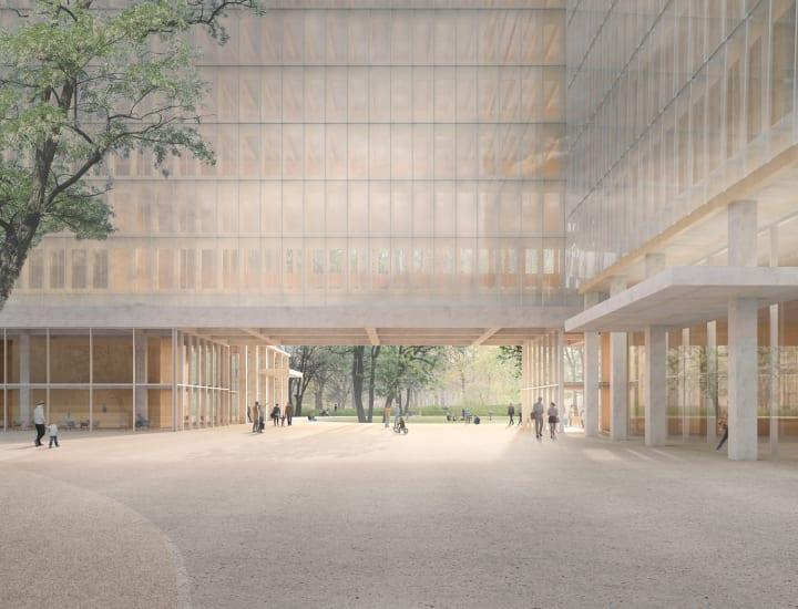 デイヴィッド・チッパーフィールドによる新プロジェクト 3つのビルからなる彫刻的なアンサンブルを提案