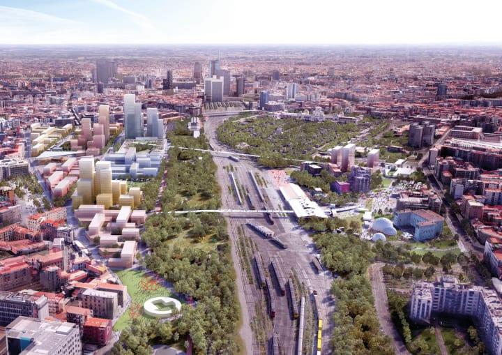 建築事務所 OMAが再開発計画「Scalo Farini」を公開 ミラノ郊外の鉄道ヤードを「エコフィルター」に