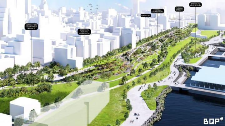 老朽化した高速道路「Brooklyn Queens Expressway」 道路の建設で公園を生み出す、BIGの設計