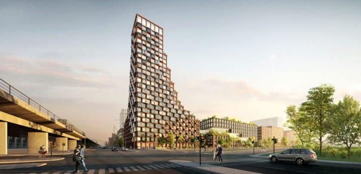 """建築事務所 TREDJE NATURによる提案「CPH Common House」 世界初の""""アップサイクル高層ビル""""を目指す"""
