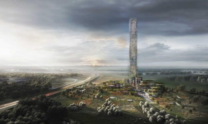 デンマークのアパレル企業 BESTSELLERによる都市計画 その中心は300mを超す本社ビル