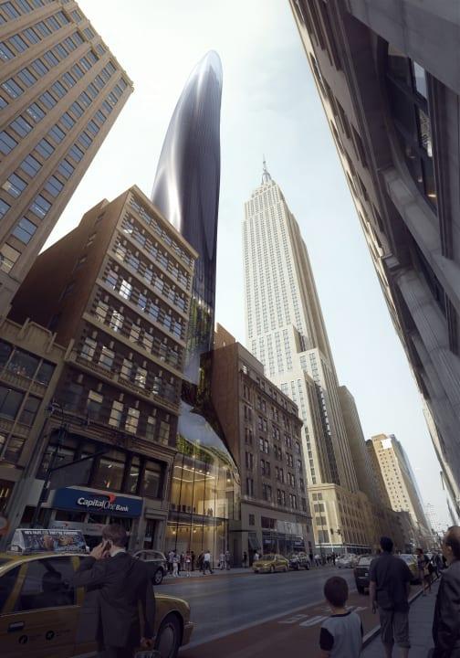 MAD Architectsによるニューヨークの「East 34th」 高層ビルに新たなビジョンを示す「なめらかな」建築