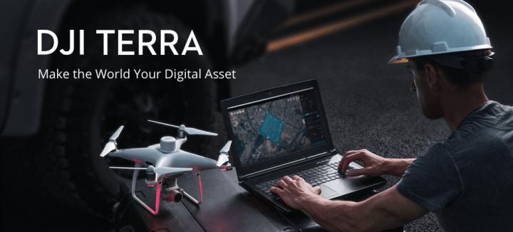 DJIから新しいソフトウェアツール「DJI Terra」が登場 ドローン空撮データをデジタル3Dモデルや地図に変換