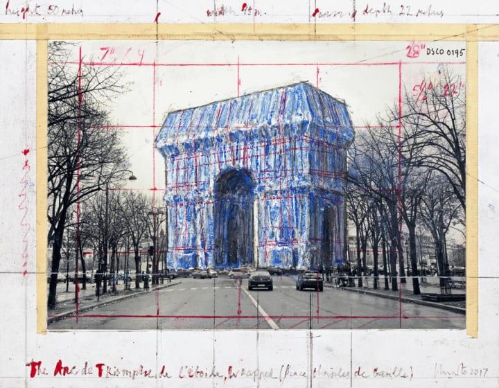 フランス凱旋門をリサイクル素材でラッピング ついに実現したアートワーク「L'Arc de Triomphe, Wra…