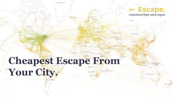 MIT Senseable City Laboratoryによる データビジュアライズドなフライト検索エンジン「Escape」