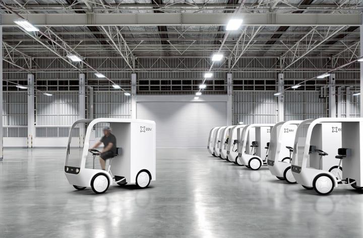 都市型の配送プロセスを変える 荷台付きフル電動自転車「EAV」