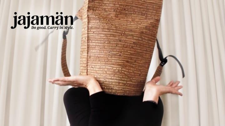 コルク材を使用した「Jajamän Cork Backpack」が登場 ビーガンでサステナブルなバックパック