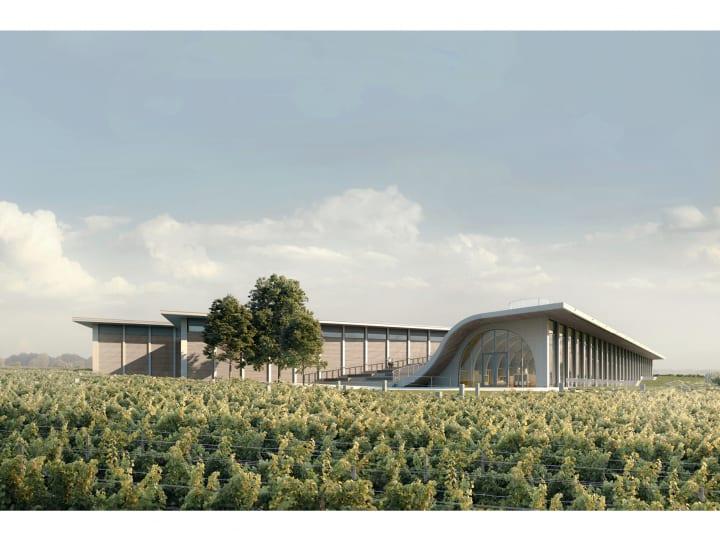 チェコの建築事務所 Chybik + Kristofによる  連続するアーチが印象的なワイナリー「Lahofer Winery」