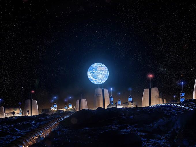 建設設計事務所 SOMがデザイン案「Moon Village」を公開 世界初となる月面での半永久的なコンセプト集落