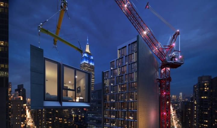 アメリカでもっとも高層のモジュラー式ホテル 「Manhattan AC Hotel by Marriott」が建設中