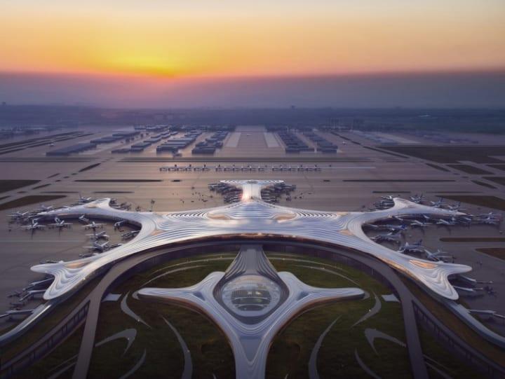 中国の建築家 馬岩松の新プロジェクト 雪の結晶をモチーフにした「Harbin Airport T3」のデザインが公開