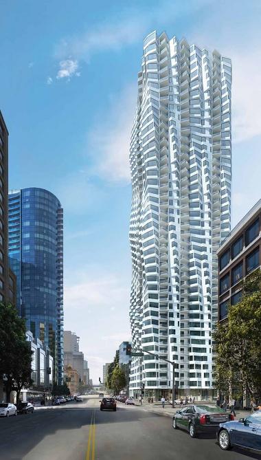 サンフランシスコ中心部の都市型住宅タワー「MIRA」 伝統的な建築を再解釈して全戸に出窓を設置