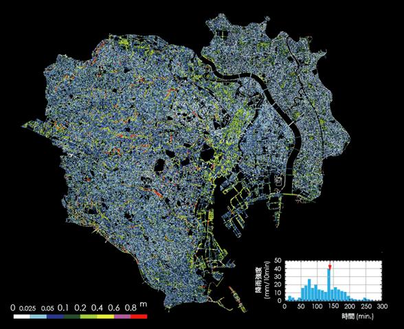 東京都23区全域を網羅するリアルタイム浸水予測システム 早稲田大学・東京大学らが共同で開発