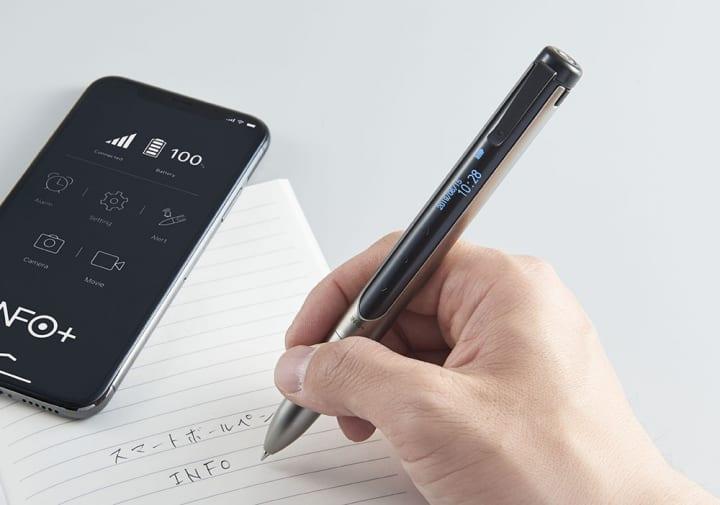 着信やメール、LINEなどのプッシュ通知を知らせてくれる スマートボールペン「インフォ」INF10がキングジ…