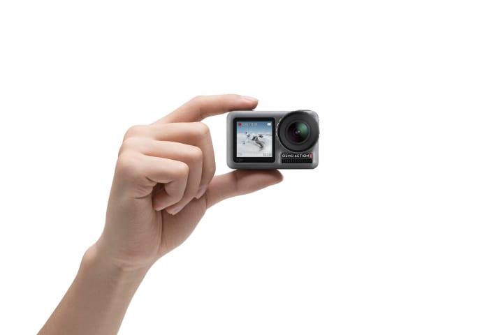 DJIから新しいアクションカメラ「Osmo Action」が登場 デュアルスクリーンで11mの防水性能を実現
