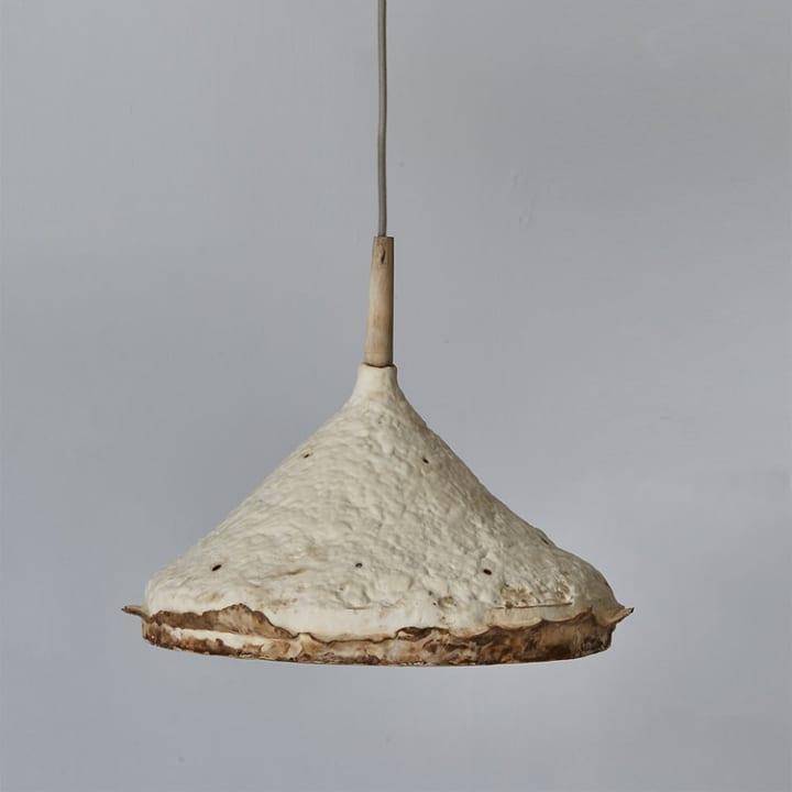 家具デザイナー セバスチャン・コックスによる 「菌糸体」シェード付きのシーリングライト